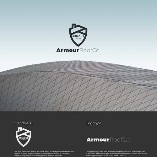 Bold logo concept for roofing.