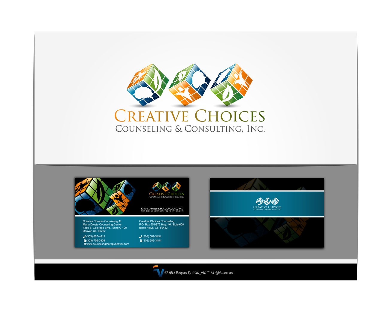 Create the next logo and business card for Creative Choices Counseling & Consulting, Inc.