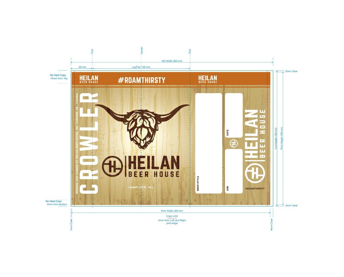 Heilan Crowler/Bottle label