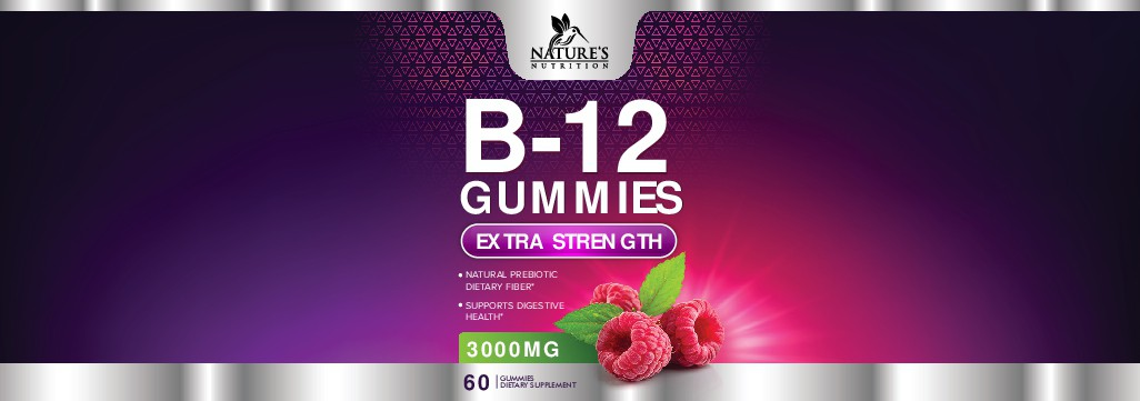 Nature's Nutrition - Needs a Colorful B-12 Gummies Label