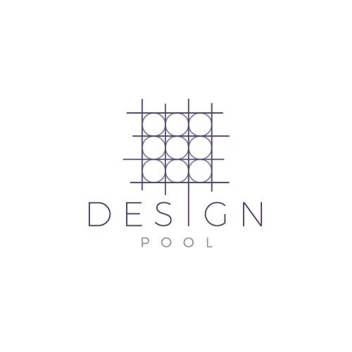 Geometric line art logo for Design Pool