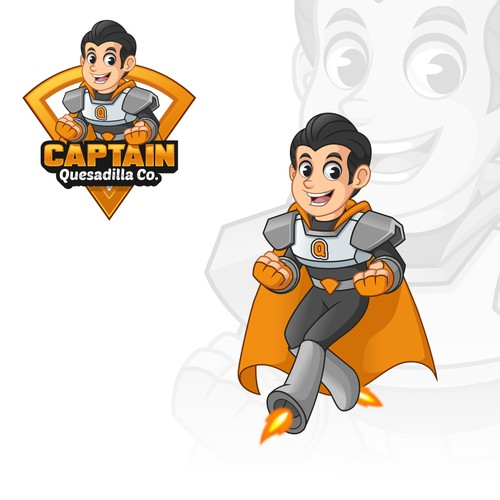 Mascot Design for Captain Quesadilla Co.