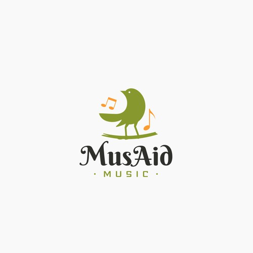 Logo concept for MusAid music