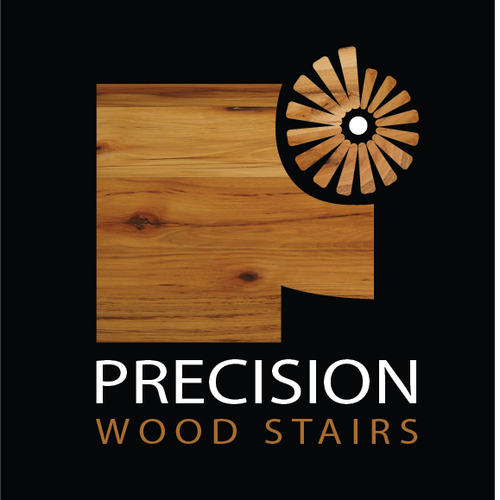 Create a professional logo for Precision Wood Stairs LLC.