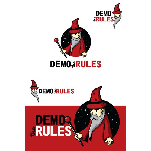"""Logo for board game company """"Demo the Rules"""""""