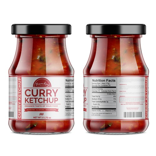 Ketchup Label Concept for Bombay Fresh