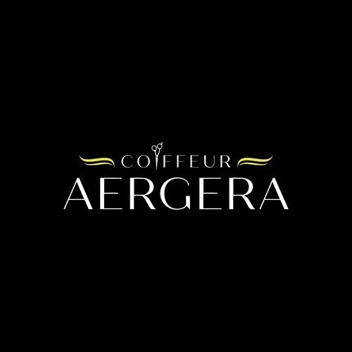 Logo Design for COIFFEUR AERGERA, Men and Women Hair Salon