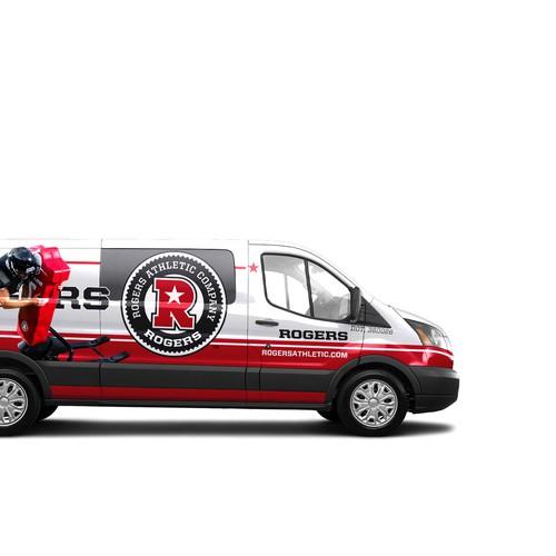 Rogers Athletic Van Wrap