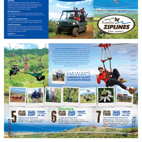 Brochure for Maui's Dual Zipline