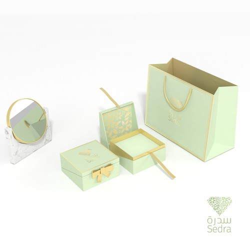 Design a package for a jewellery brand