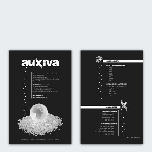 Flyer for Auxiva