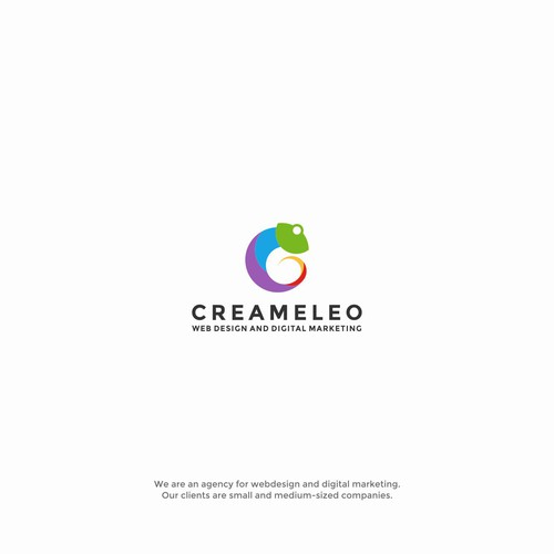 Creative logo for Creameleo