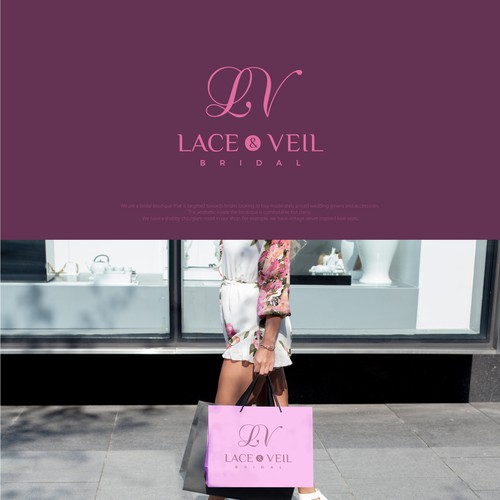Simple clean and professional logo design for Lace and Veil