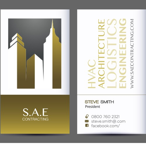 New stationery wanted for S.A.E Contracting