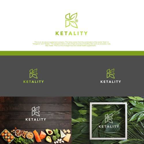 Clean, Modern Design for an All Natural Supplement Company