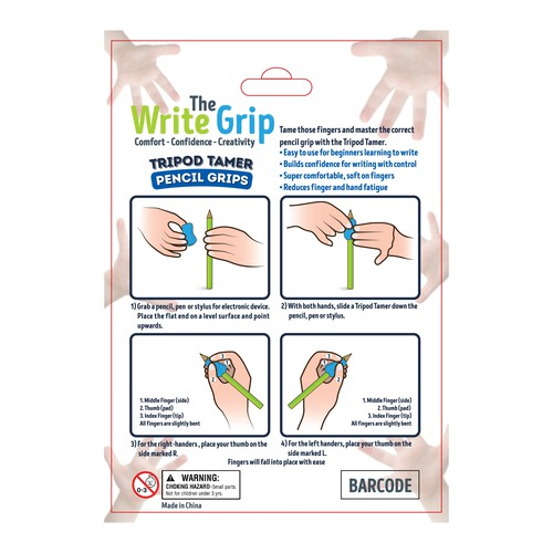 The Write Grip Tripod Tamer Pencil Grips Packaging