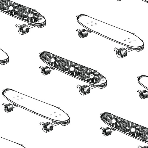 Skate Boards Illustration