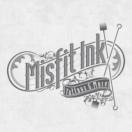 Classic logo for a tattoo studio