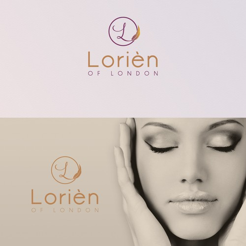Logo for the branding of the beauty line Lorièn