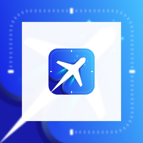 iOs icon for a flight management app.