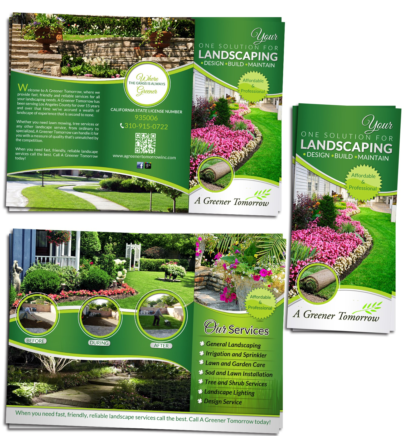 New brochure design wanted for A Greener Tomorrow Inc.
