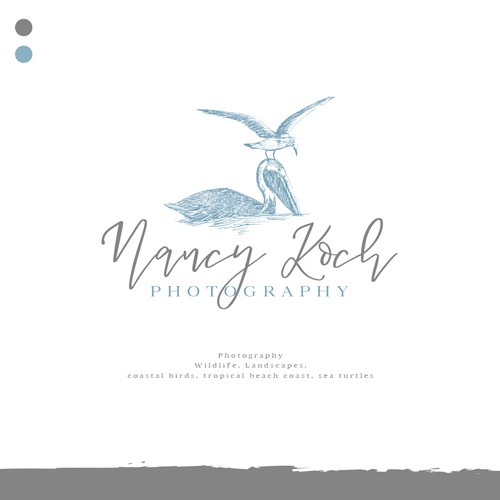 Design a modern logo for a wildlife/nature photographer