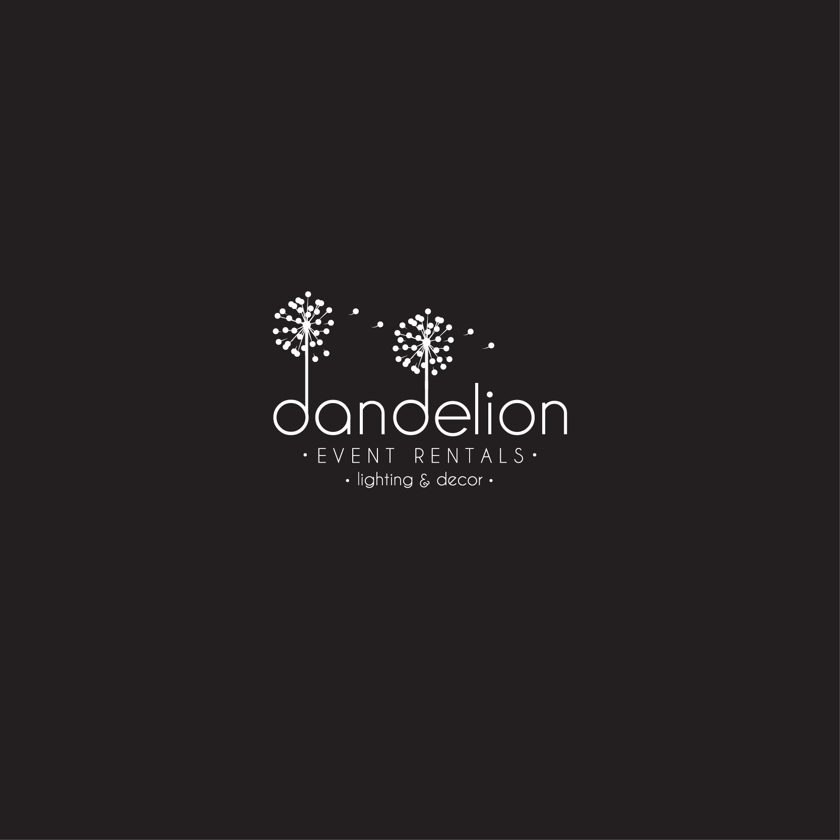 Create a modern chic logo for Dandelion Event Rentals!