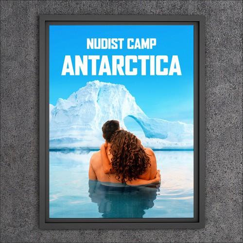 Illustration / Travel poster 'Nudist Camp - Antarctica'