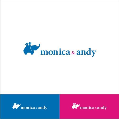 "Won ""monica & andy"" logo"