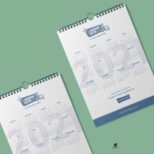 Wisdom Teeth Calendar Design