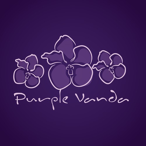 Logo for Florist - Purple Vanda