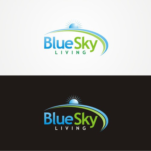 NEW BUSINESS 'BLUE SKY LIVING' NEEDS A LOGO