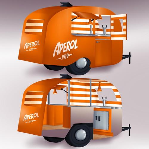 Classic, bright bar trailer design