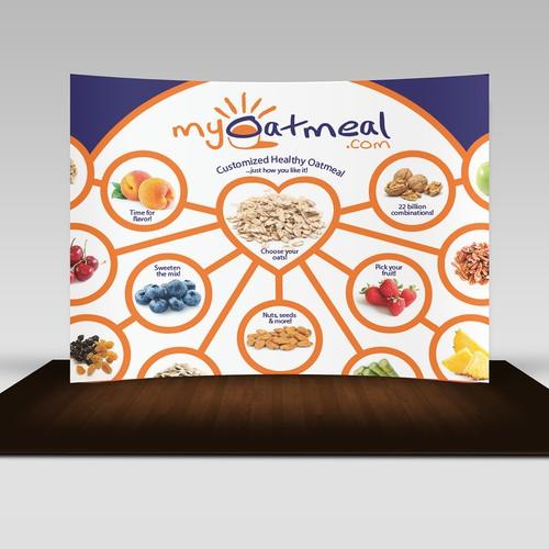 Trade show backdrop design for MyOatmeal.com
