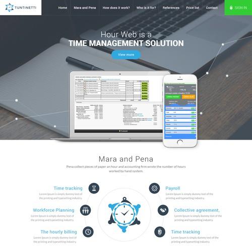 Tuntinetti Website Design