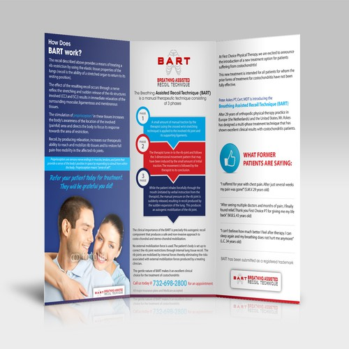 Help First Choice Physical Therapy with a new brochure design