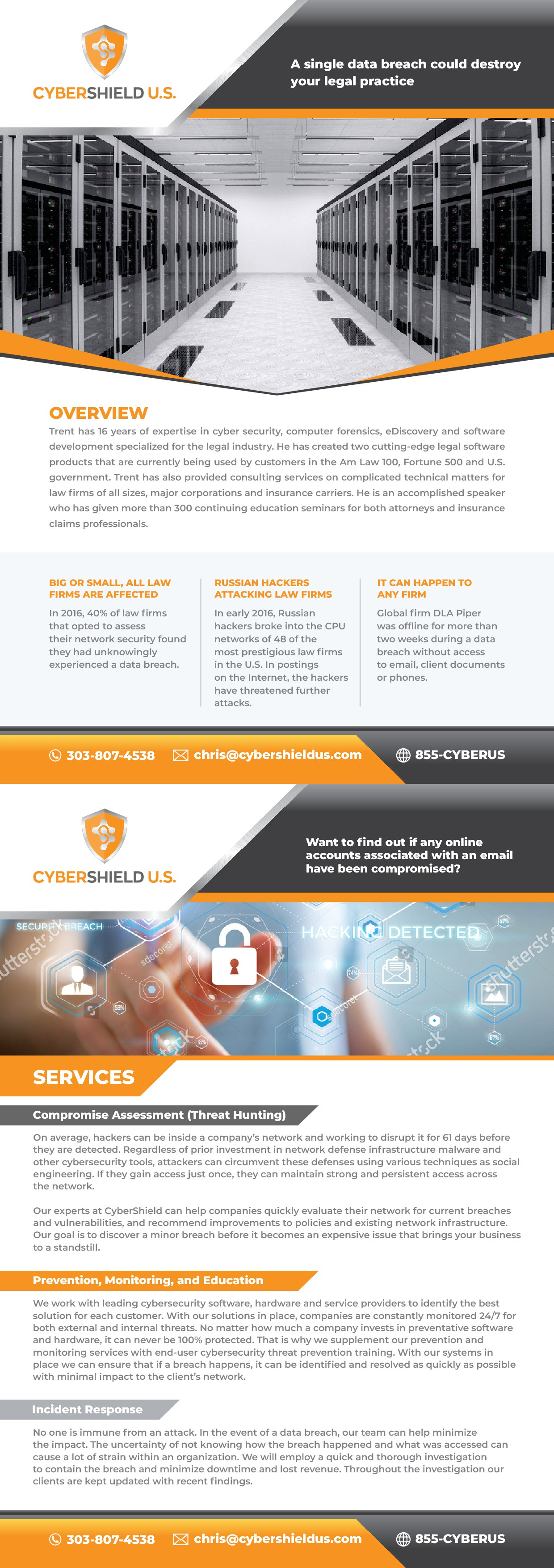 Brochure Design for Cyber-Security Company