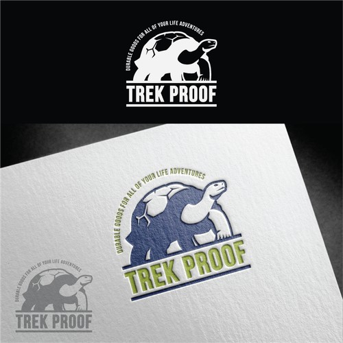 Logo design for Trek Proof, High Quality Durable Goods