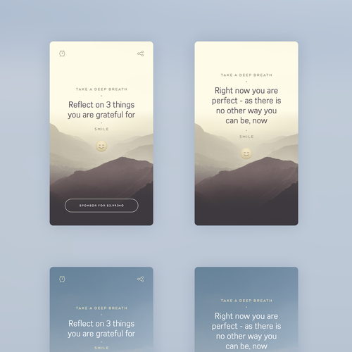 Meditation app design