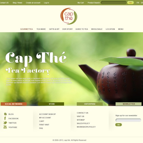 website design for cap thé