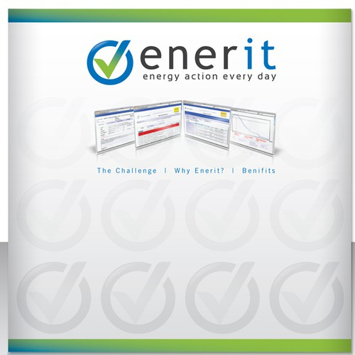 Exhibition stand panel design for energy management consultants