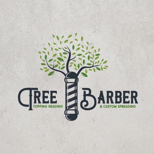 logo concept for Tree barber