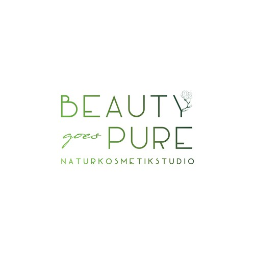 Fresh and natural logo for a cosmetic studio.