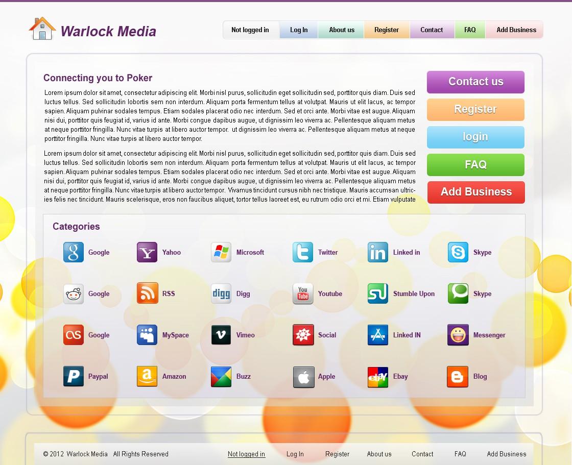 Warlock Media needs a new website design