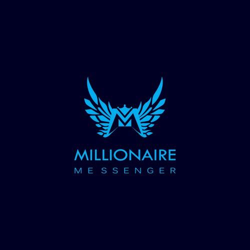 Logo design for MILLIONAIRE MESSENGER.
