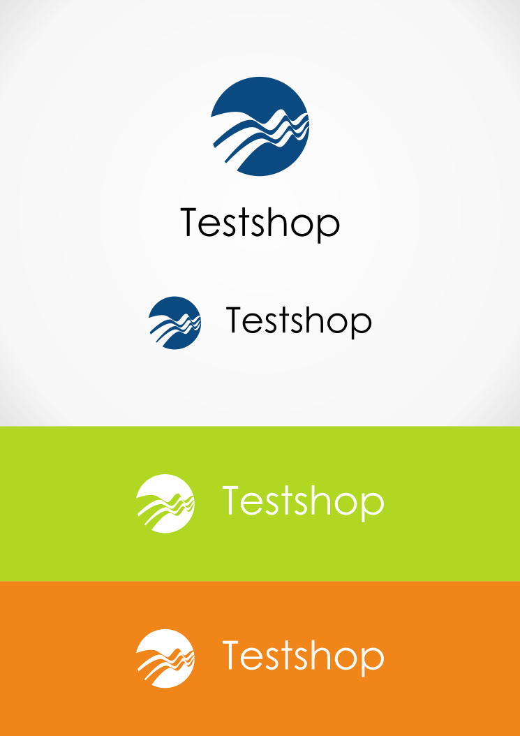 Create an abstract illustration for testshop