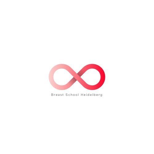 """""""Breast School Heidelberg"""" logo"""