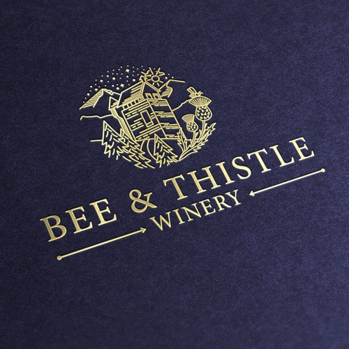 Modern label and logo for winery