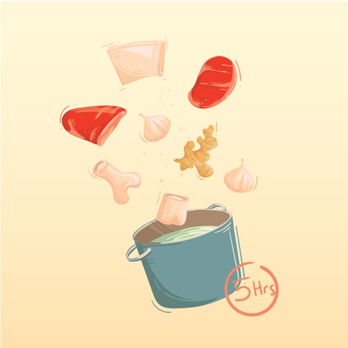 Cooking illustration for Pho