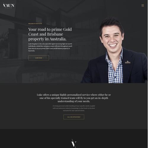 Premium real estate consultancy web site